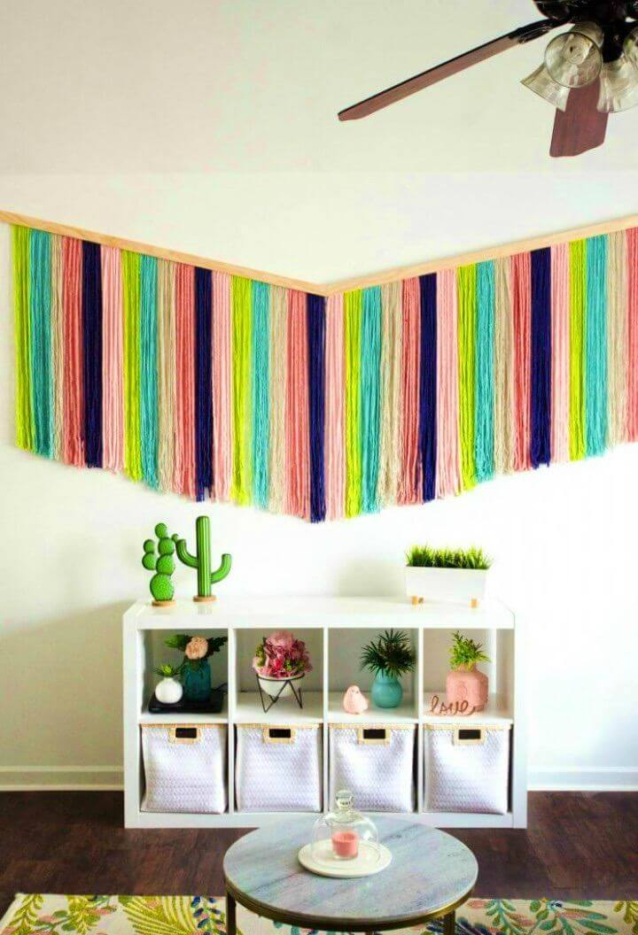 Make a Yarn Wall Hanging for Adults