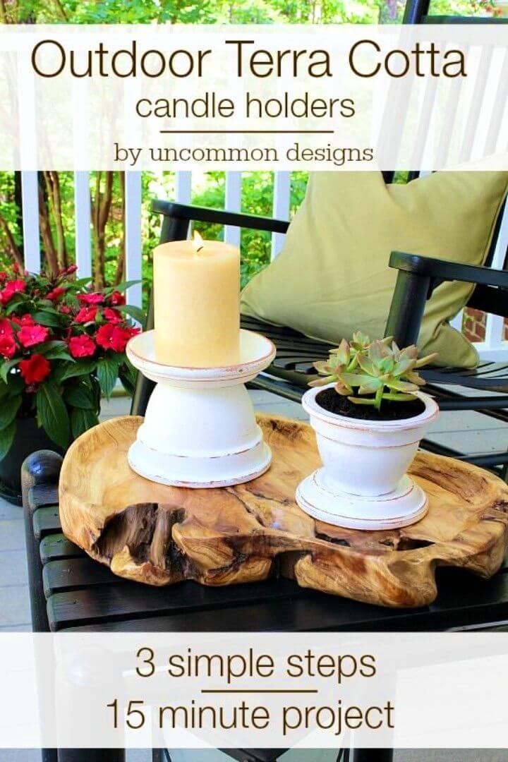 Make an Outdoor Terra Cotta Candle Holder