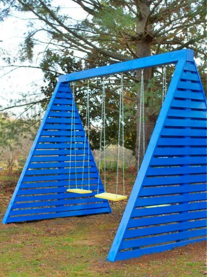 Modern DIY Frame Swing Set