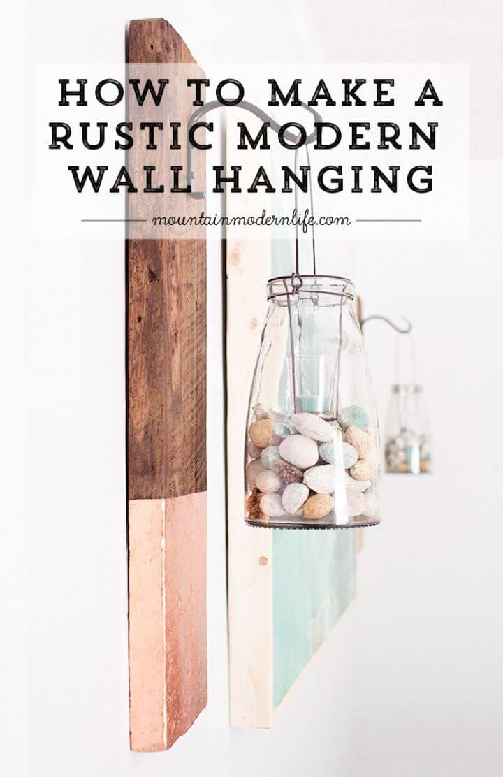 Modern and Rustic DIY Wall Hanging