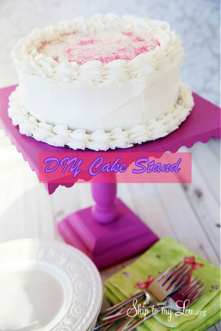 Pretty DIY Cake Stand