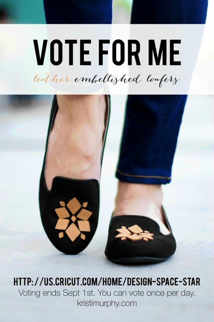 Pretty DIY Leather Embellished Loafers