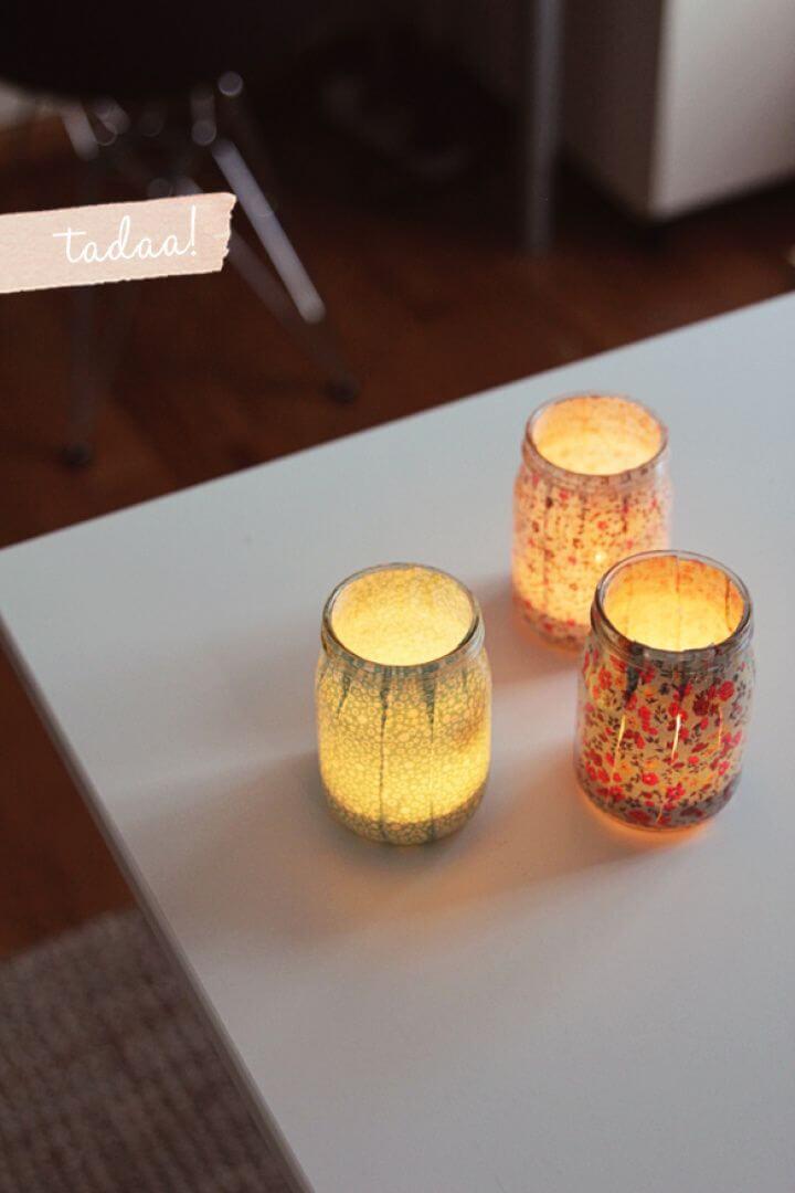 Pretty DIY Mason Jars Votives