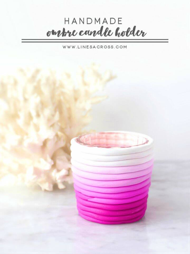 Pretty DIY Ombre Candle Holders