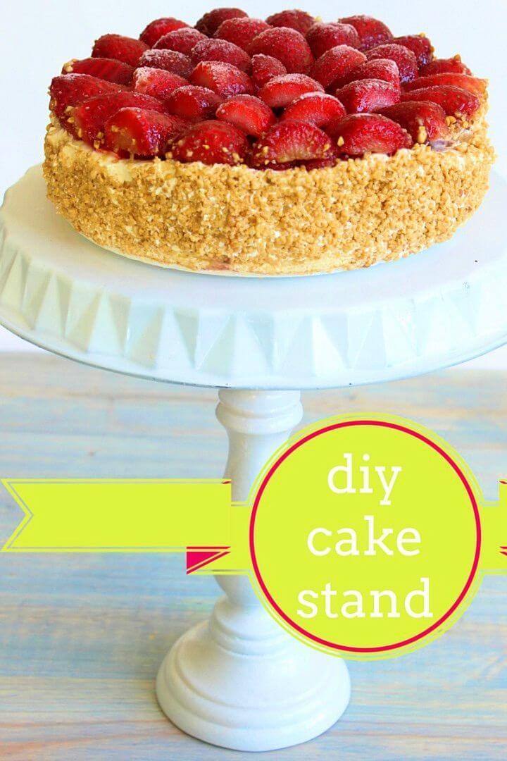 Quick DIY Cake Stand