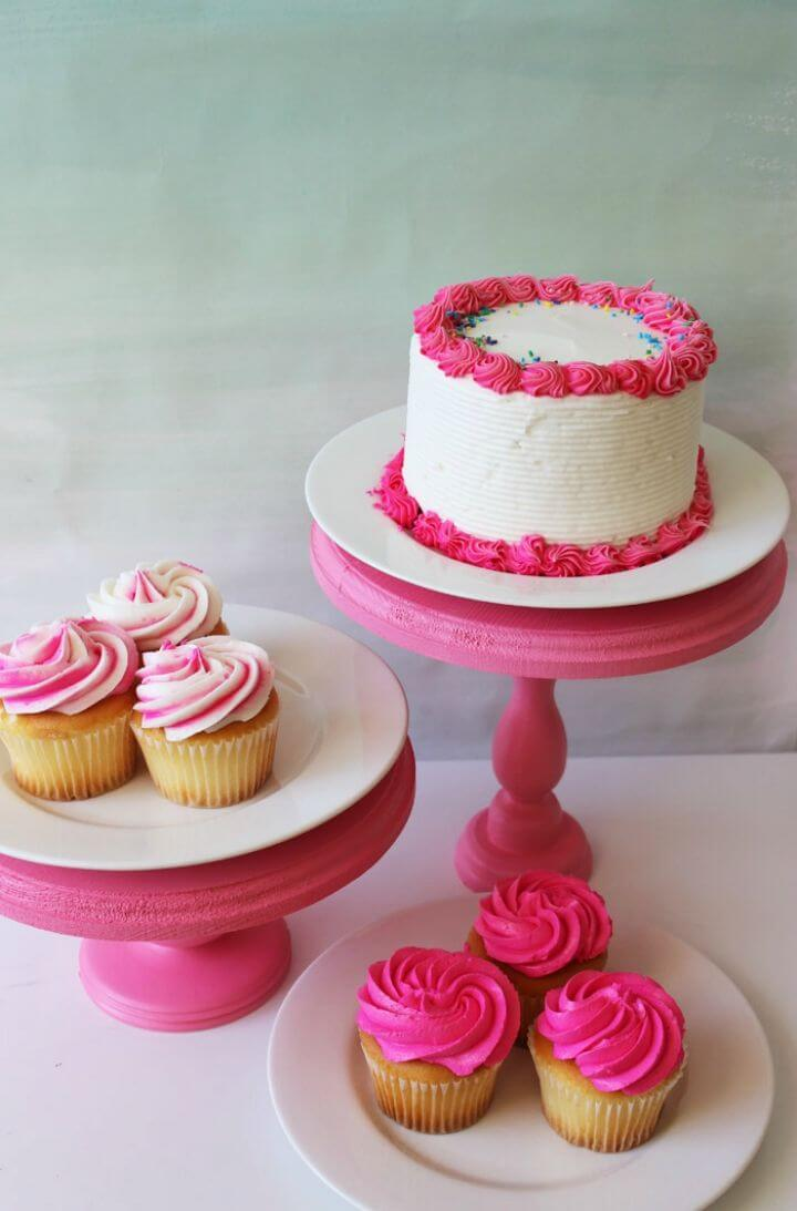 Quick DIY Candlestick Cake Stands