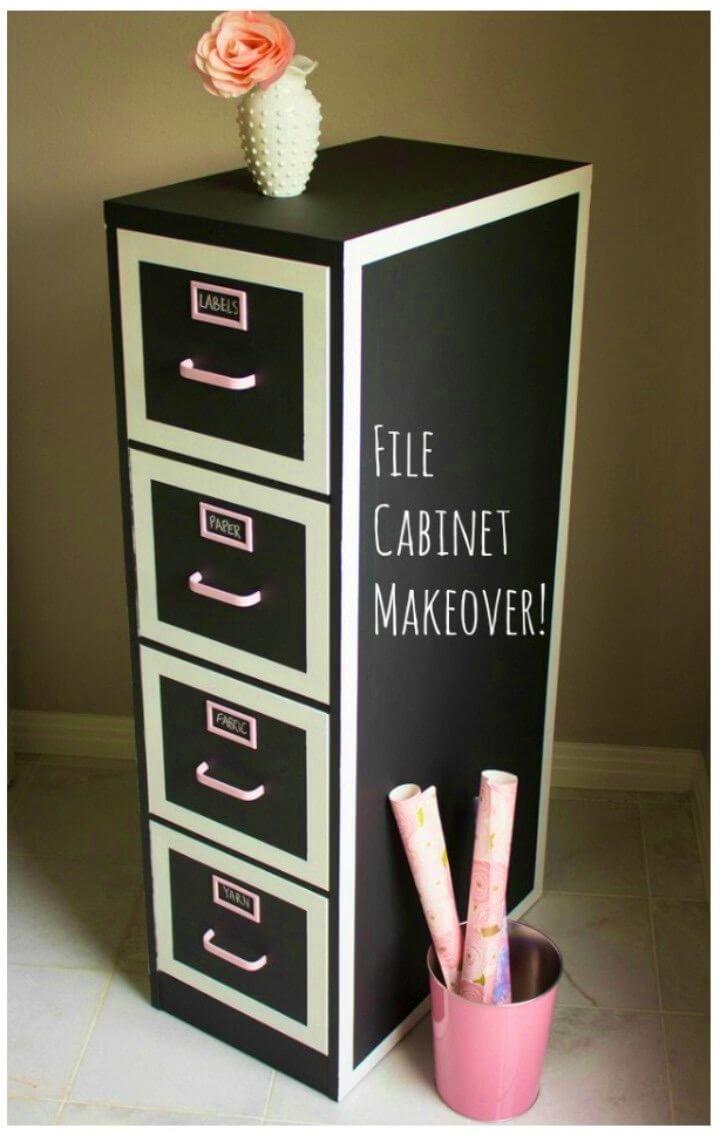 Quick DIY File Cabinet Makeover