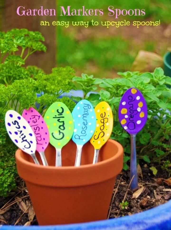 Quick DIY Garden Markers Spoons