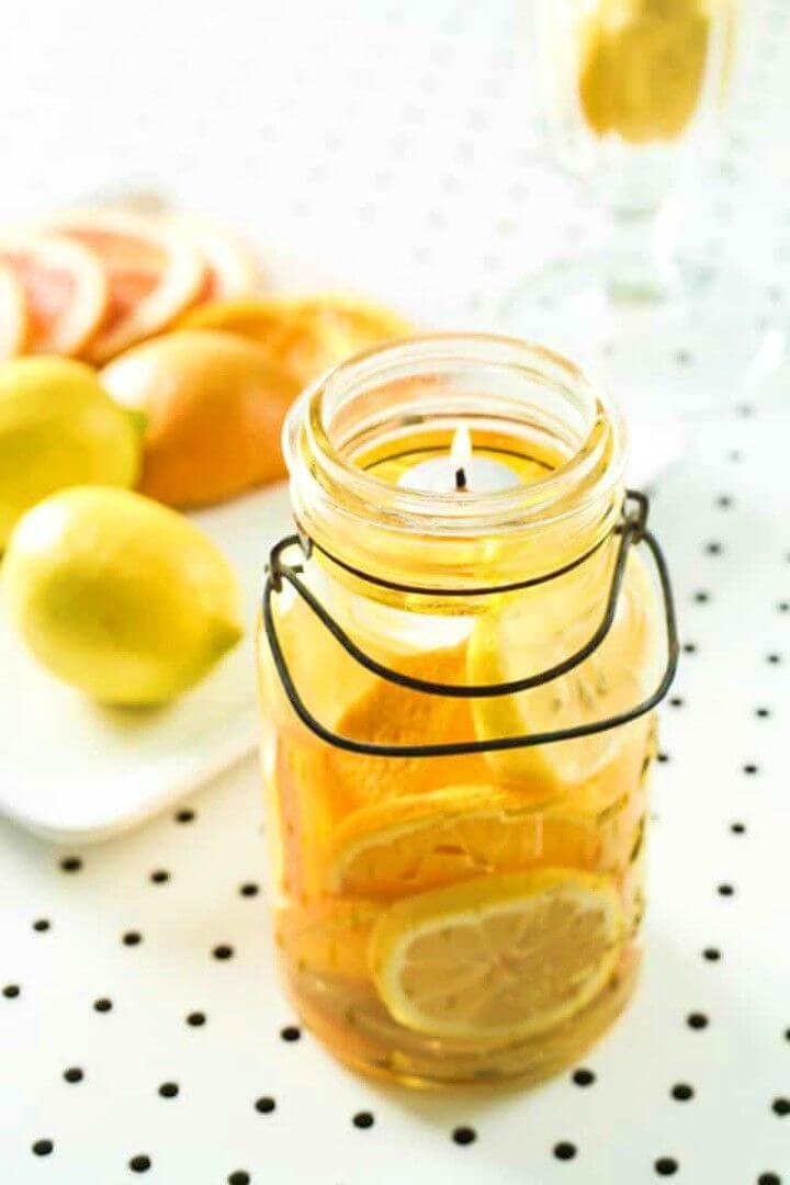 Quick DIY Mason Jar Candles