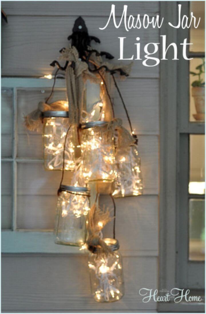 Quick DIY Mason Jar Light