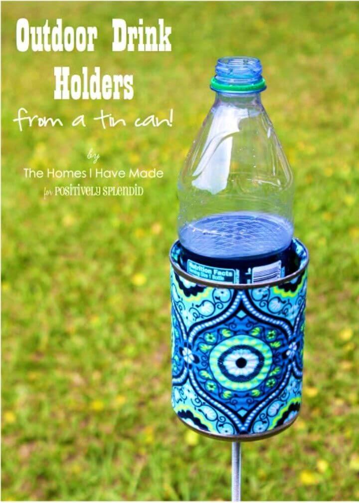 Quick DIY Outdoor Drink Holder