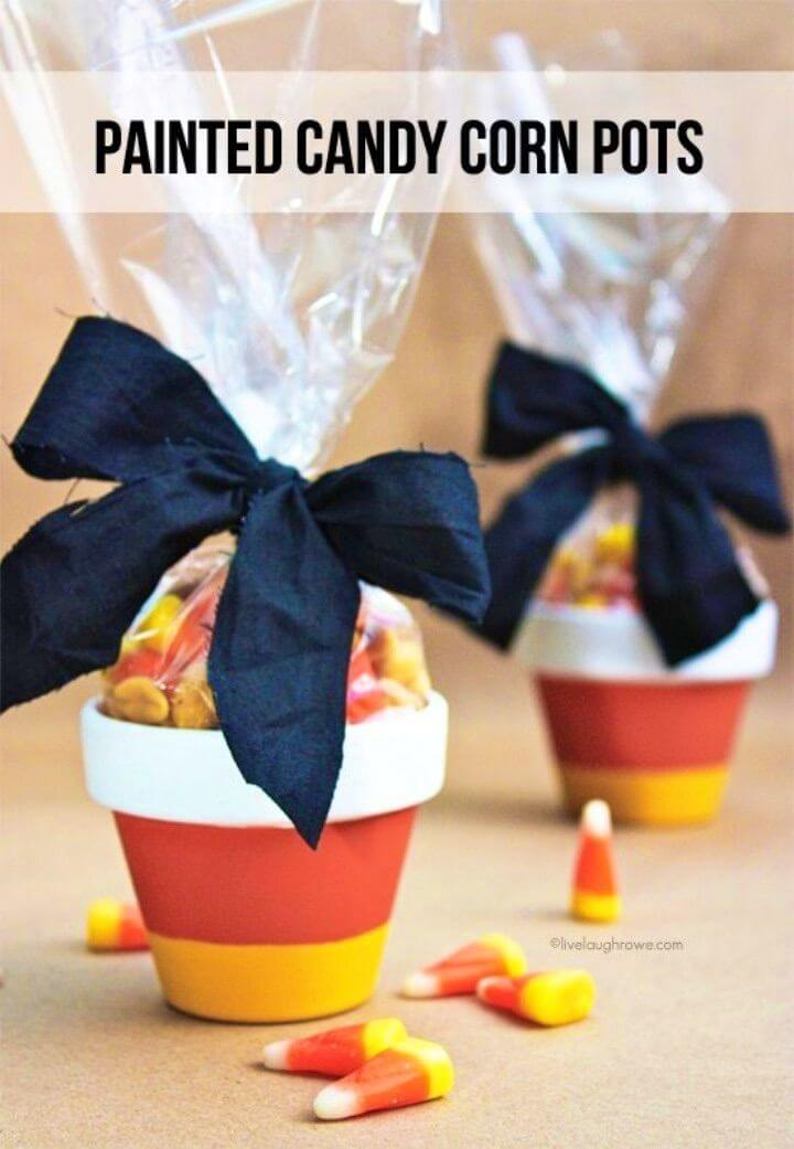Quick DIY Painted Candy Corn Pots