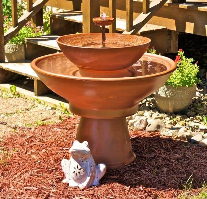 Quick DIY Terra Cotta Fountain