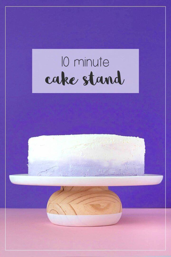 Quick DIY Wooden Cake Stand