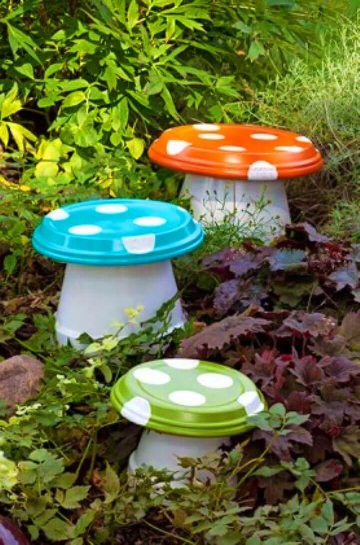 Quick and Easy DIY Garden Mushrooms