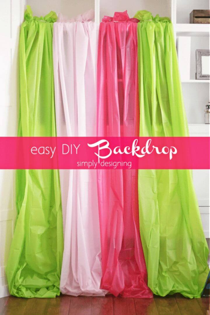 Quick and Easy DIY Photo Backdrop
