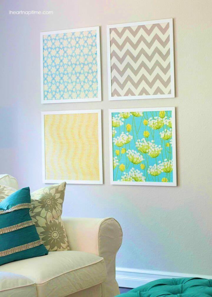 Quick and Inexpensive DIY Fabric Art