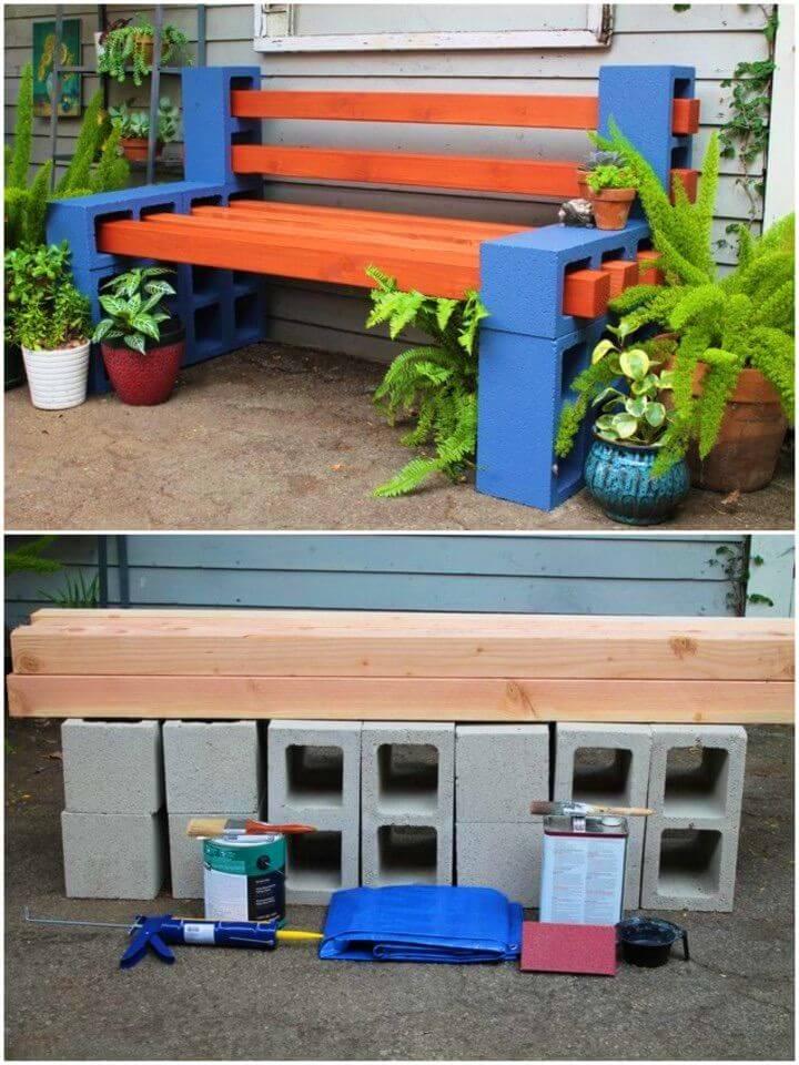 Simple DIY Backyard Bench