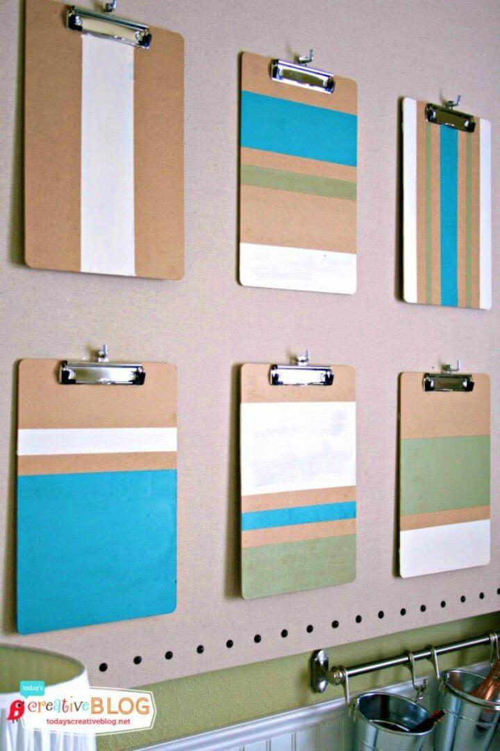 Simple DIY Colorblock Clipboards, DIY, easy DIY, quick DIY, cheap DIY projects, DIY color blocks, color blocks, DIY color block art, color block technique, DIY color block clipboards, DIY clipboards, DIY office decor.