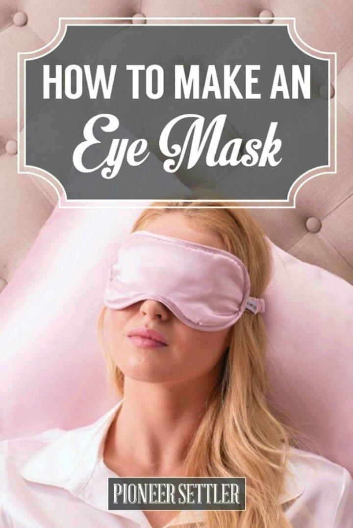 Simple DIY Eye Mask Out of Rice