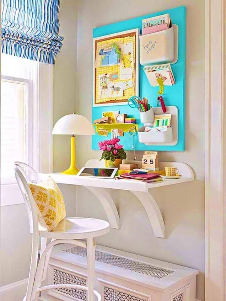 Simple DIY Floating Wall Desk