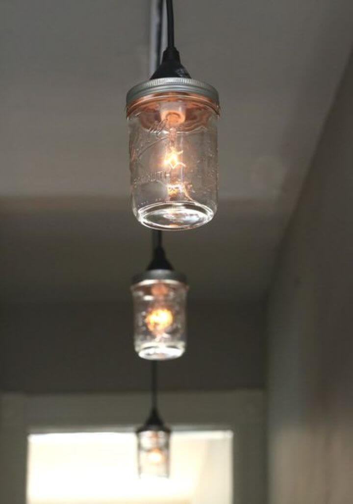 Simple DIY Lighting Fixture Out of Mason Jars