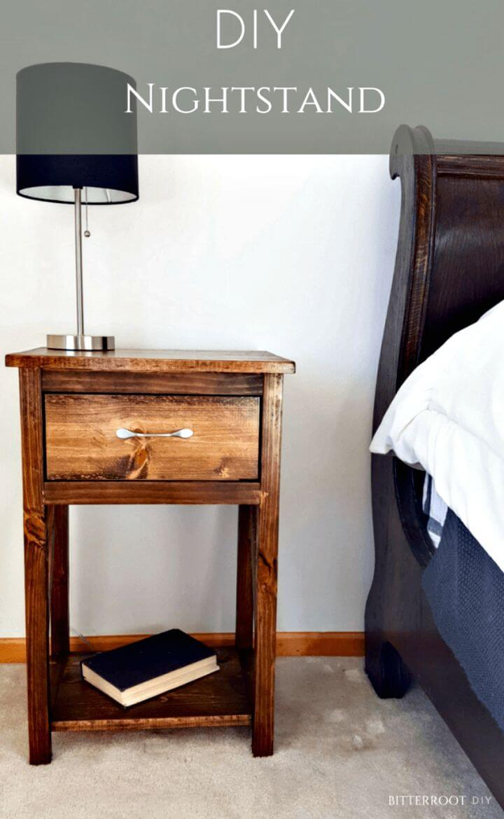 Simple DIY One Drawer Nightstand