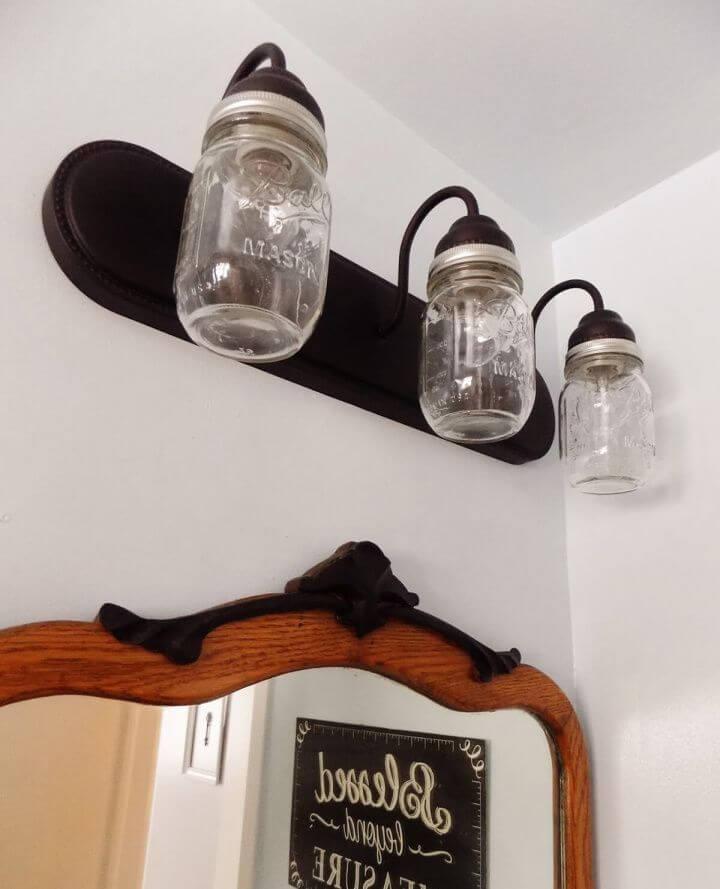 Simple DIY Triple Bulb Industrial Themed Overhead Lamp