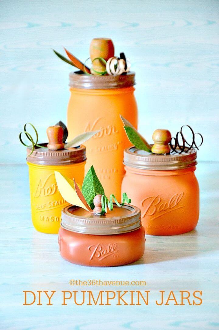 Simple Pumpkin Mason Jars Under an Hour