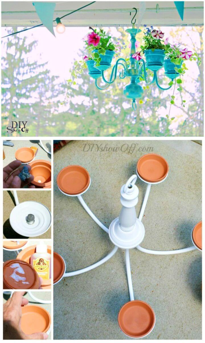 Simple and Easy Chandelier Planter Tutorial