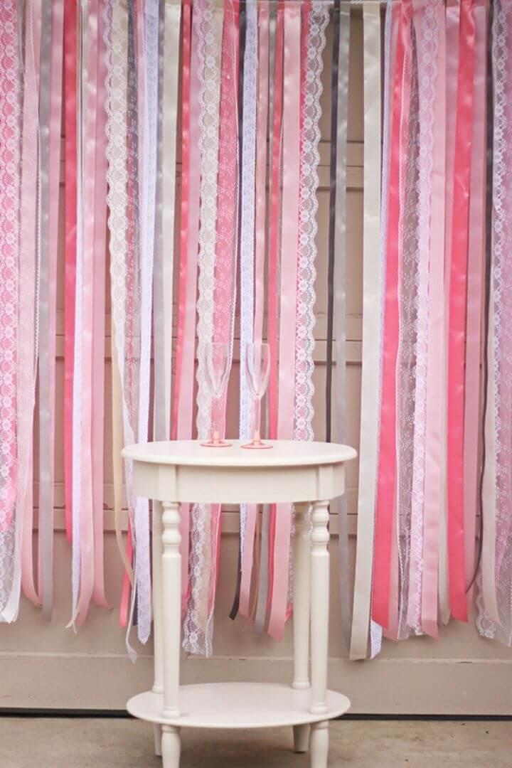 Super Easy DIY Ribbon Lace Backdrop