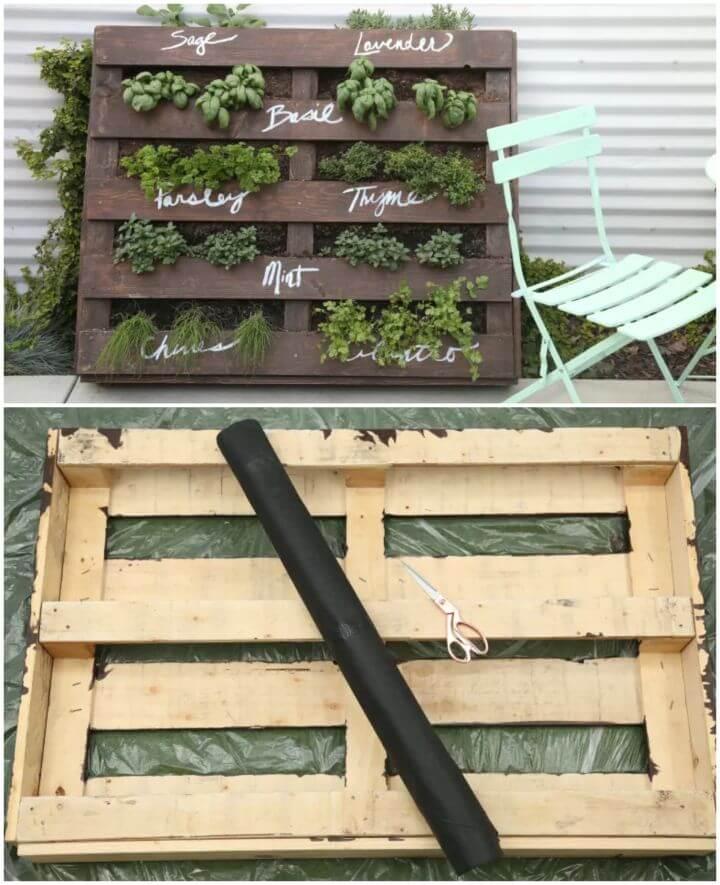 Turn Wood Pallet into Herb Garden