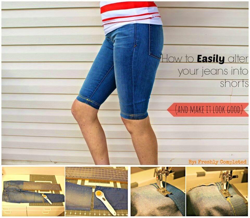Turn Your Jeans into Shorts