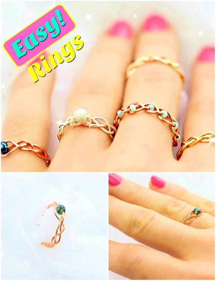 Easy DIY Braided and No Tools Rings