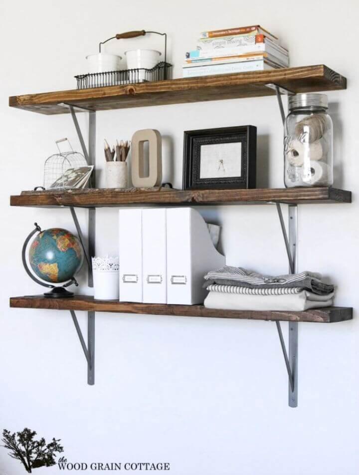Adorable DIY Farmhouse Flair Wood Storage Shelf