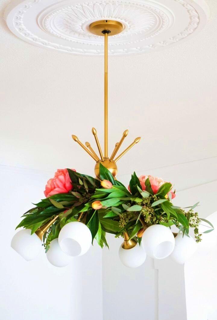 Adorable DIY Floral Chandelier Garland
