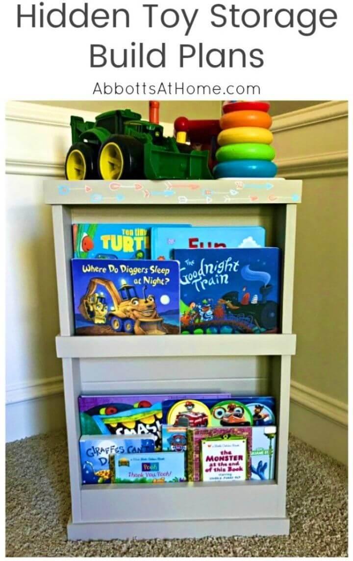 Adorable DIY Hidden Toy Storage