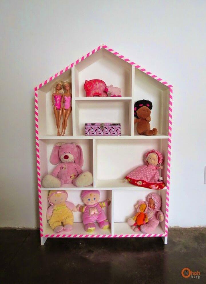 Adorable DIY House Shelf Makeover
