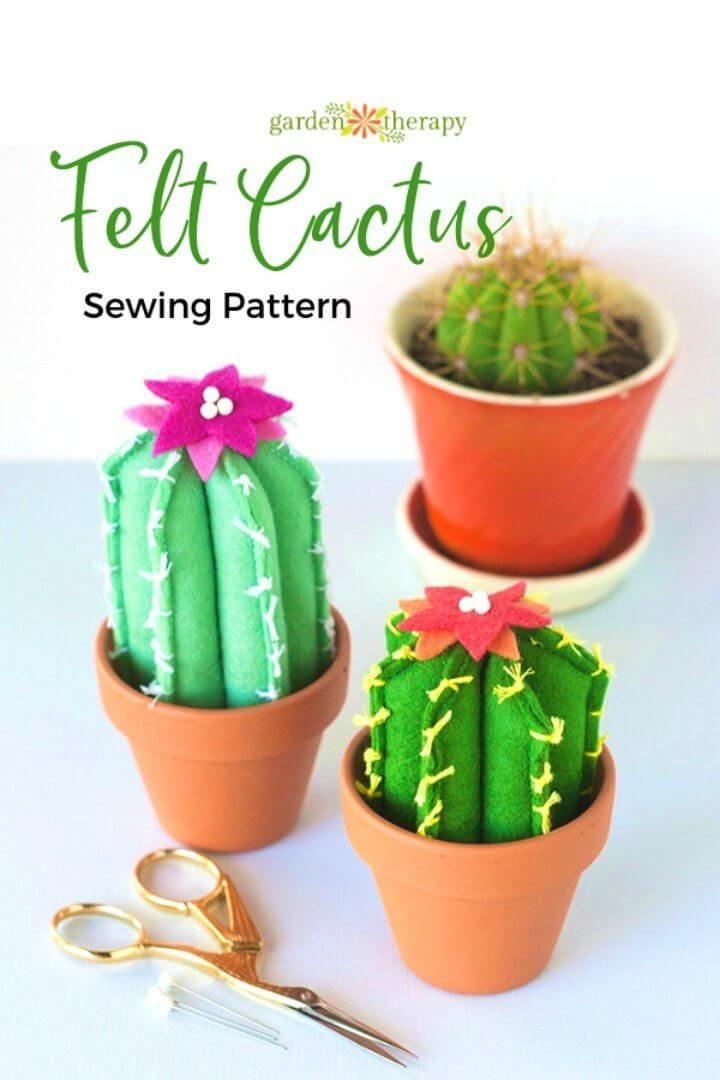 Adorable DIY Soft and Cuddly Felt Cacti