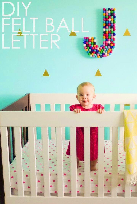 Adorable DIY Take on Nursery Letter Art