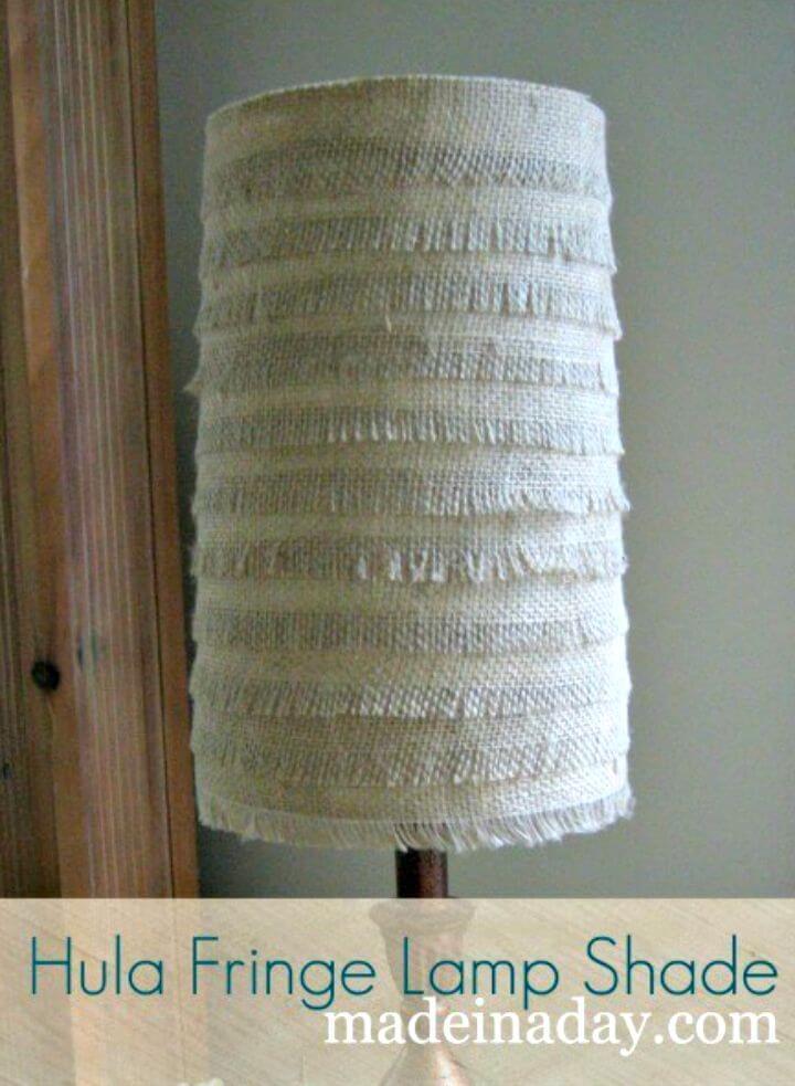 Amazing DIY Burlap Lamp Shades