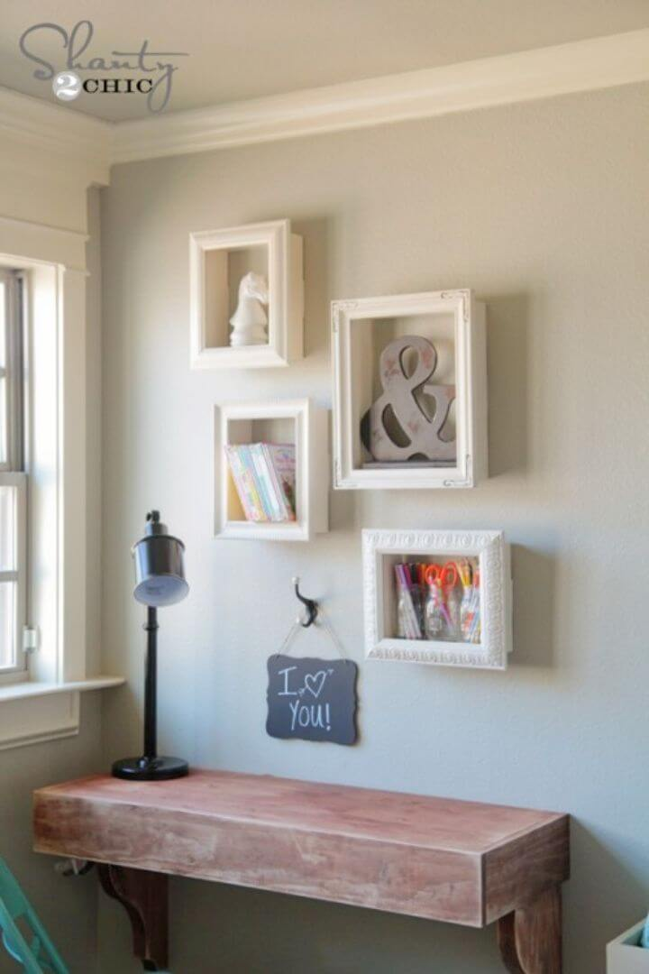 Amazing DIY Frame Shelves
