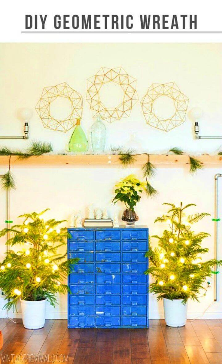 Amazing DIY Geometric Himmeli Wreath