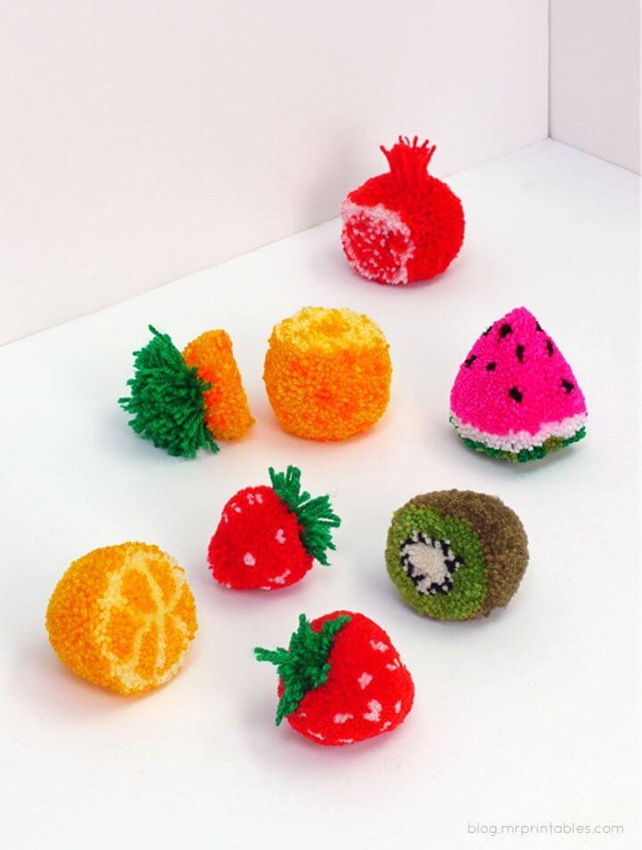 Amazing DIY Pom Pom Fruit