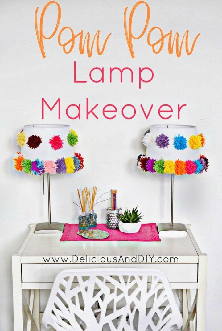 Amazing DIY Pom Pom Lamp