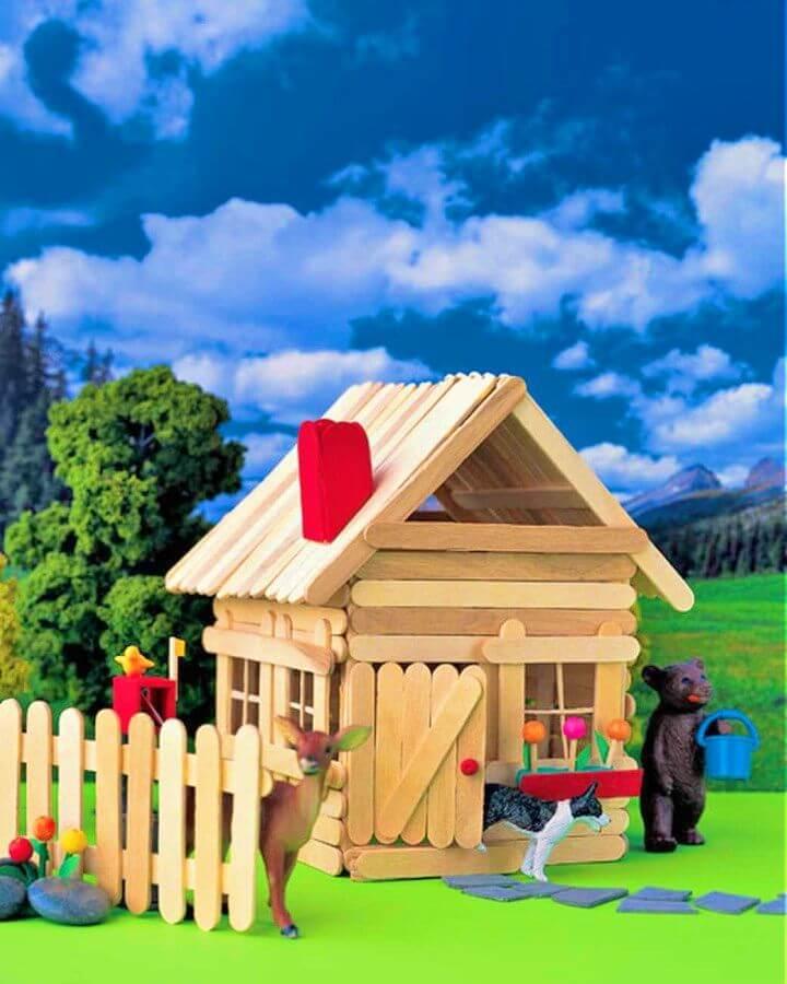 Amazing DIY Popsicle Stick House