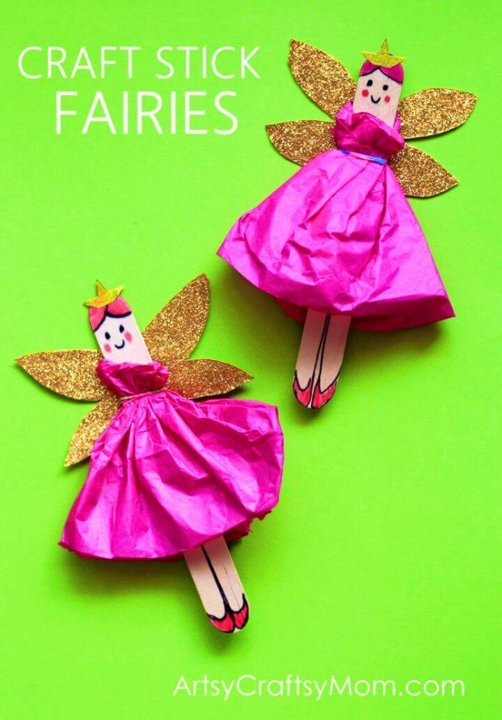 Amazing DIY Popsicle Sticks Fairies
