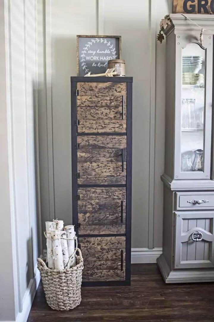 Amazing DIY Rustic Cube Shelves