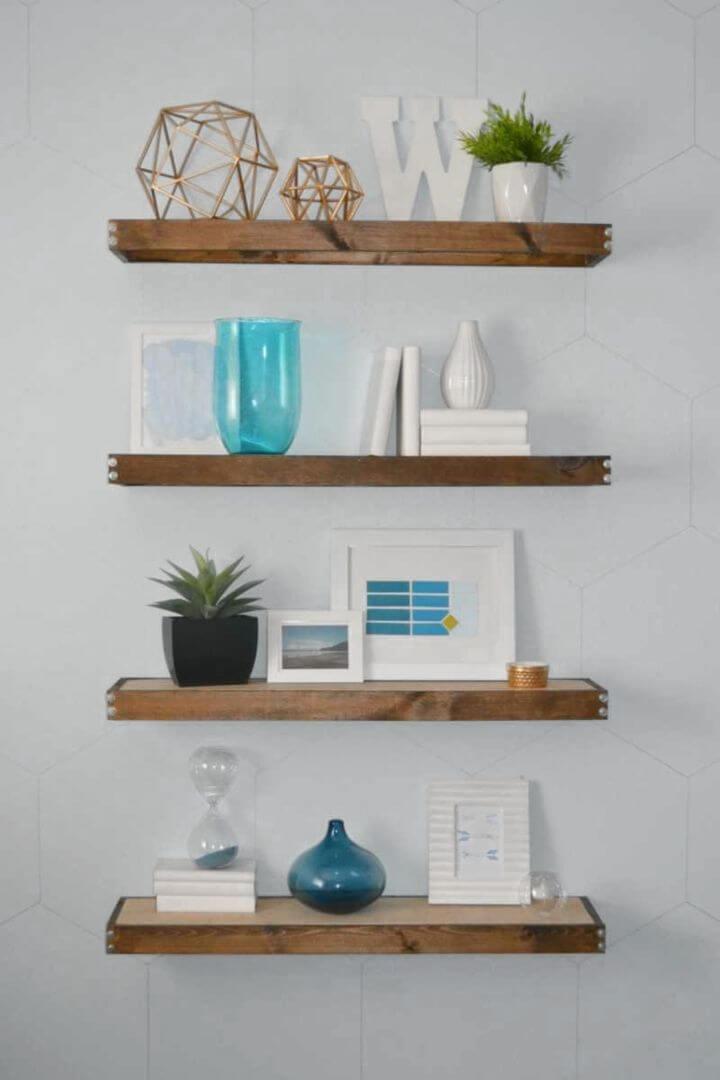 Amazing DIY Rustic Modern Floating Shelves