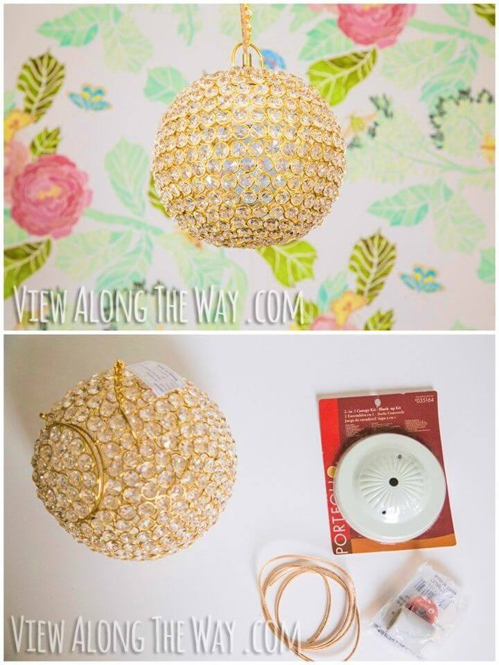 Awesome DIY Crystal Ball Chandelier
